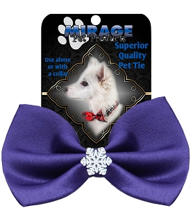 Snowflake Widget Pet Bowtie Purple